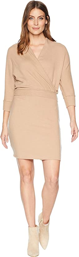 Brushed Sweater Wrap Dress