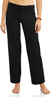 Women's Relaxed Fit Dri-More Core Cotton Blend Yoga Pants Available in Regular and Petite