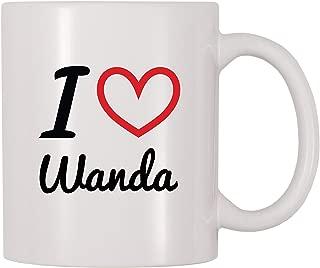 4 All Times I Love Wanda Personalized Name Coffee Mug (11 oz)