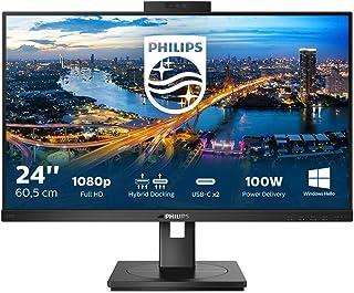 Philips 243B1JH - 24 inch FHD Monitor, 75Hz, 4ms, IPS, USB-C Docking, WebCam, Height Adjust, Speakers (1920 x 1080, 250 c...