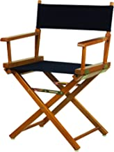 """Casual Home 18"""" Director's Chair Honey Oak Frame with Navy Canvas"""