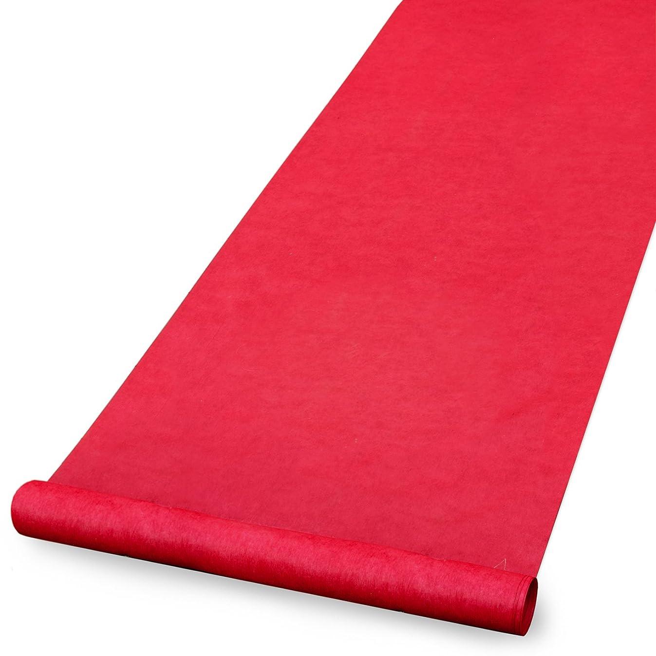 Hortense B. Hewitt 30056 Wedding Accessories Fabric Aisle Runner, 100-Feet Long, Red