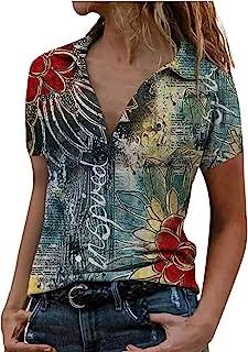 Ainiyo Higlles T-Shirt Damen Blusen Tops Loose Hemd Sweatshirt Langarmshirts Beste Freunde Pullover für Mädchen Frauen Kleider Bedrucktes Damen Mode Loose Print Splicing Revers Kurzärmlige Hemdbluse