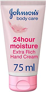 JOHNSON'S Hand Cream, 24 HOUR Moisture, Extra Rich, 75ml