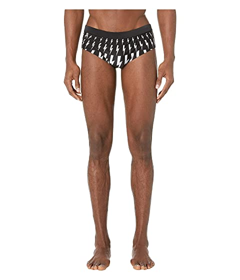 Neil Barrett Thunderbolt Fair Isle Swim Brief