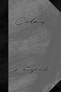 Cadmus Notizbuch: Unliniertes Notizbuch mit Rahmen für deinen Vornamen
