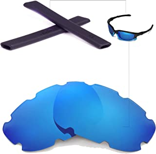 Walleva New Vented Replacement Lenses + Earsocks for Oakley Split Jacket Sunglasses - Multiple Options