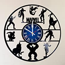 MY GIFT STORE AVENGERS IRON MAN TEAM 12 INCH/30 CM VINYL RECORD WALL CLOCK MARVEL UNIVERSE INFINITY WAR AVENGERS - GIFT FOR BOYS - Gift idea for children, teens, adults