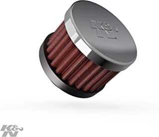 K&N Vent Air Filter / Breather: Washable and Reusable: 0.625 in (16 mm) Flange ID; 1.5 in (38 mm) Height; 2 in (51 mm) Base; 2 in (51 mm) Top , 62-1340