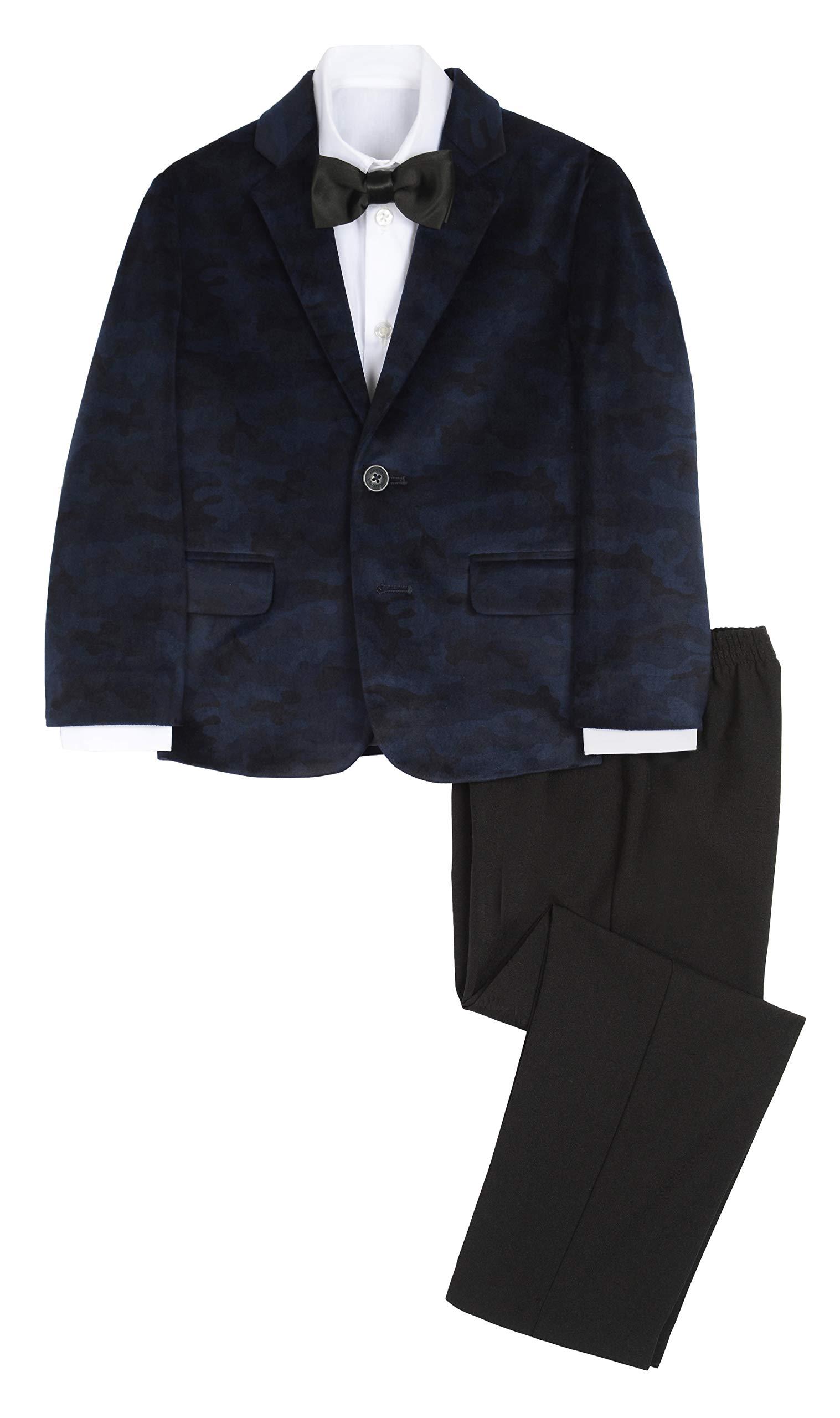 ノーティカボーイスーツのジャケット、ズボン、シャツのネクタイ