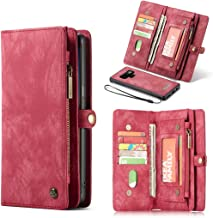 Galaxy S7 Case,Galaxy S7 Wallet Case, Esing Premium Folio Zipper Purse Leather Cover Cases for Samsung Galaxy S7 Detachable Magnetic Case with Flip Credit Card Slots Stand Holder(Red)