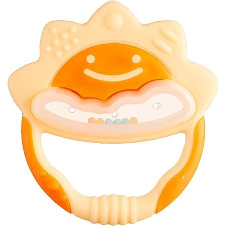 リッチェル Richell 歯がため ケース付 たいよう イエロー 3か月頃から対象