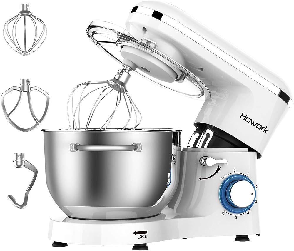 Howork, impastatrice planetaria, robot da cucina, 6 velocita` Bianco