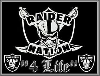 2Pcs Oakland Raiders Nation 4 Life Vinyl Window Stickers Car Bumper Decal