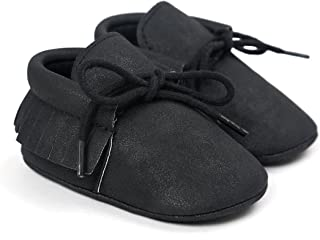 First Walkers - Unisex Baby Boys Girls Moccasins Soft Sole Tassels Prewalker Anti-Slip Loafer Shoes
