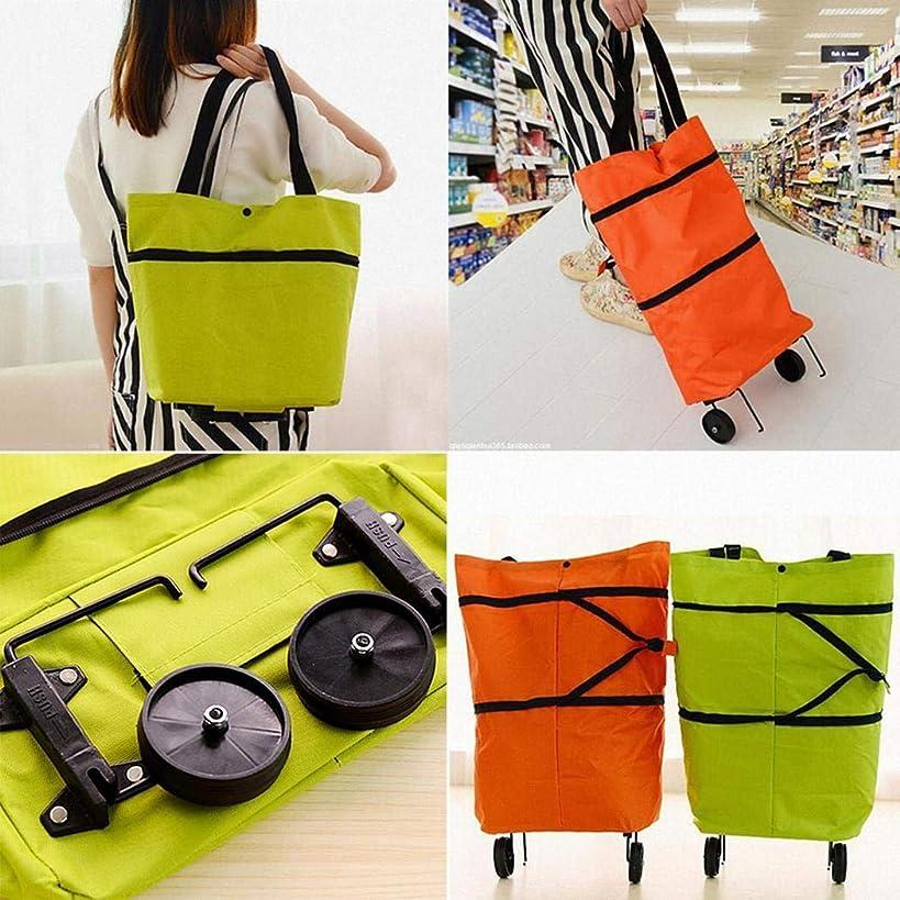 Dongtu Foldable Reusable Bag Rolling Wheel Shopping Cart Tote Handbag Reusable Grocery Bags