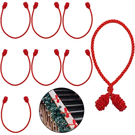 Shappy Christmas Garland Ties Green Nylon Cable Zip Ties 12 Inch Reusable and Flexible Twist Ties for Garland Banisters and Home Decoration 150 Pieces