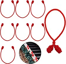 Cooraby 8 Pieces Red Decorative Garland Ties Garland Flexible Ties for Holiday Decorations Christmas Craft Gift Wrapping (...