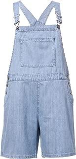 Women's Loose Denim Bib Harem Short Jeans Overalls