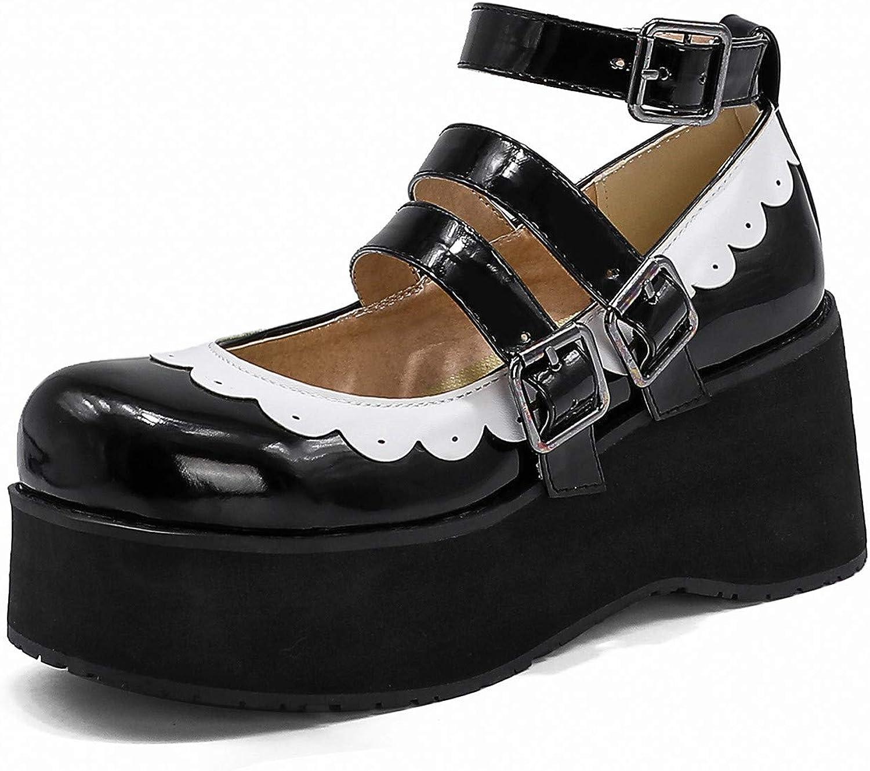 Dallas Mall half Odisen Women Platform Lolita Mary Jane T Goth Shoes Cute Vintage
