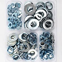 HongWay Spring Washers and Flat Washers Assortment Kit Hardware, Zinc Plated 150pcs in Total