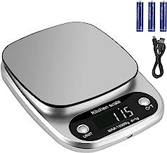 Proster Balance de Cuisine Numérique Rechargeable 3g-10kg Balance de Cuisine Numérique Haute Précision 1g Balances Multifo...