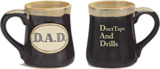 Dad Acronym Mug (Black) - Duct Tape and Drills - Great Father's Day or Birthday Gift