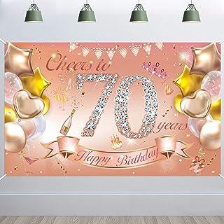 IMIKEYA Birthday Photography Background 70th Birthday Resuable ...