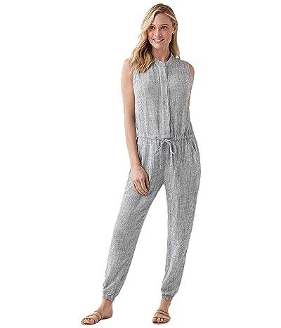 Splendid Striped Brooke Jumpsuit (Navy/White Stripe) Women