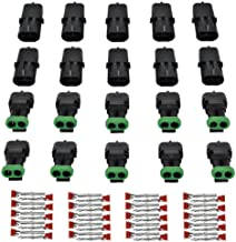 Car Waterproof Electrical Connector 5 Sets 4 Pin Way 18AWG Waterproof Electrical Connectors Kit 1.5mm Series Terminal and Rubber Seal with 10cm Wire Weatherpack Connectors