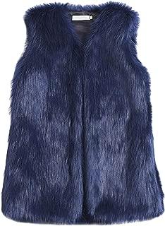 Women's Faux Fur Vest Coat Sleeveless Jacket