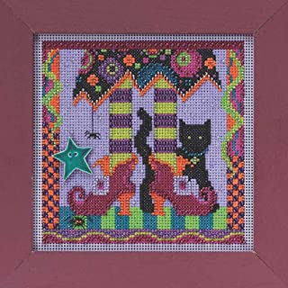 Magic Shoes Halloween Beaded Counted Cross Stitch Kit Mill Hill 2015 Buttons & Beads Autumn MH145201