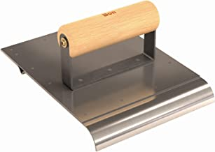 Bon 12-179 6-Inch by 8-Inch Combination Edger and Groover, 3/4-Inch Radius, Wood Handle, Stainless Steel