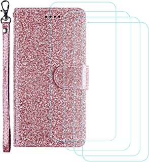 YZKJ Skydd för ZTE Axon 10 Pro 5G-fodral, flip PU glitter läderfodral mobiltelefonfodral plånbok väska skyddsfodral fodral...