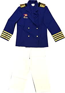 Disney Cruise Line Mickey Mouse Captain Officer Uniform Suit Costume Boys