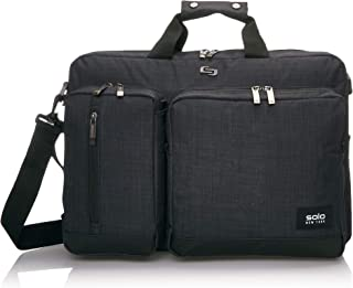 Solo Duane 15.6 Inch Laptop Hybrid Briefcase, Converts to Backpack, Indigo (Blue) - PLA303-4