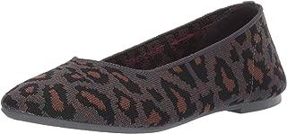 Skechers Women's Cleo-Claw-Some-Leopard Print Engineered Knit Skimmer Ballet Flat