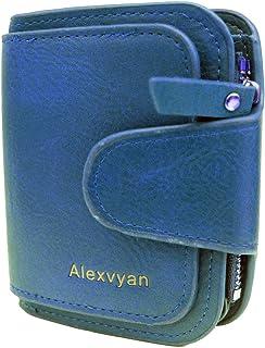 Alexvyan Blue Leather Women's Hand Clutch
