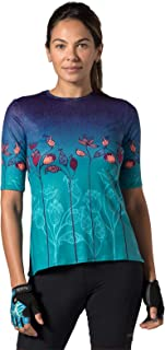 Women's Soleil Short Sleeve Bicycling Top with UPF 50+ Sun Protection
