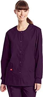 Dickies Women`s EDS Signature Scrubs Missy Fit Snap Front Warm-up Jacket