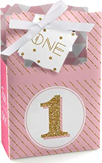 1st Birthday Girl - Fun to be One - First Birthday Party Favor Boxes - Set of 12