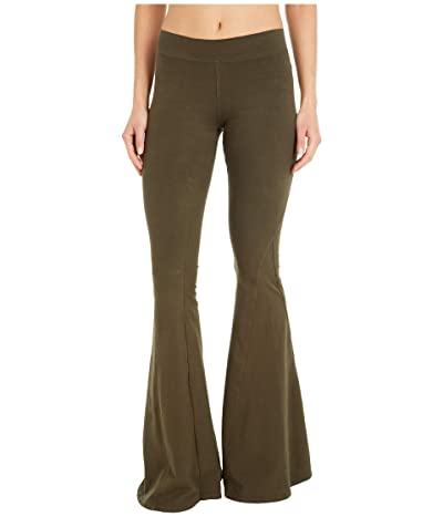 Hard Tail Hippie Chick Flare Pants (Olive Drab) Women