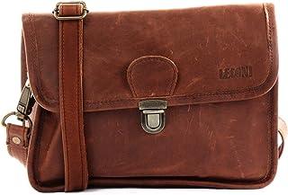 LECONI kleine Schultertasche Umhängetasche Damen Ledertasche Handtasche echtes Rindsleder 26x20x8cm LE3041
