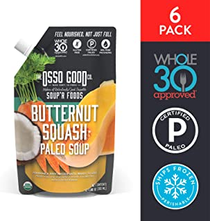 Osso Good - Butternut Squash Soup, Made with Organic Chicken Bone Broth, Paleo Certified, Dairy Free & Gluten Free (6 Count)
