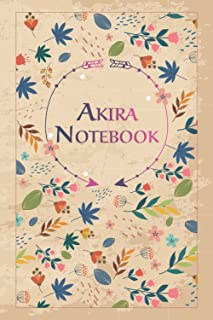 """Akira Notebook: Beautiful Gift, 100 Pages with Timeline, 6""""x9"""", Matte Finish"""