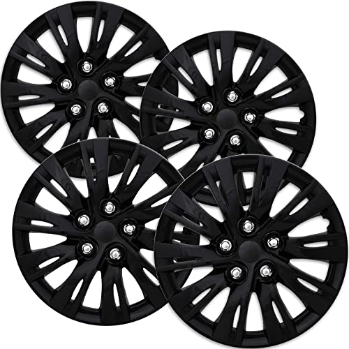 discount 16 outlet online sale inch Hubcaps Best for 2012-2016 Toyota high quality Camry - (Set of 4) Wheel Covers 16in Hub Caps Ice Black Rim Cover - Car Accessories for 16 inch Wheels - Snap On Hubcap, Auto Tire Replacement Exterior Cap outlet sale