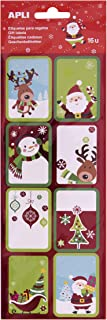 APLI Kids 17896 – Christmas Gift Tags, Red Background, 16 Units
