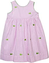 BETTI TERRELL Whales Embroidered Hot Pink Stripe Sleeveless Wrap Dress