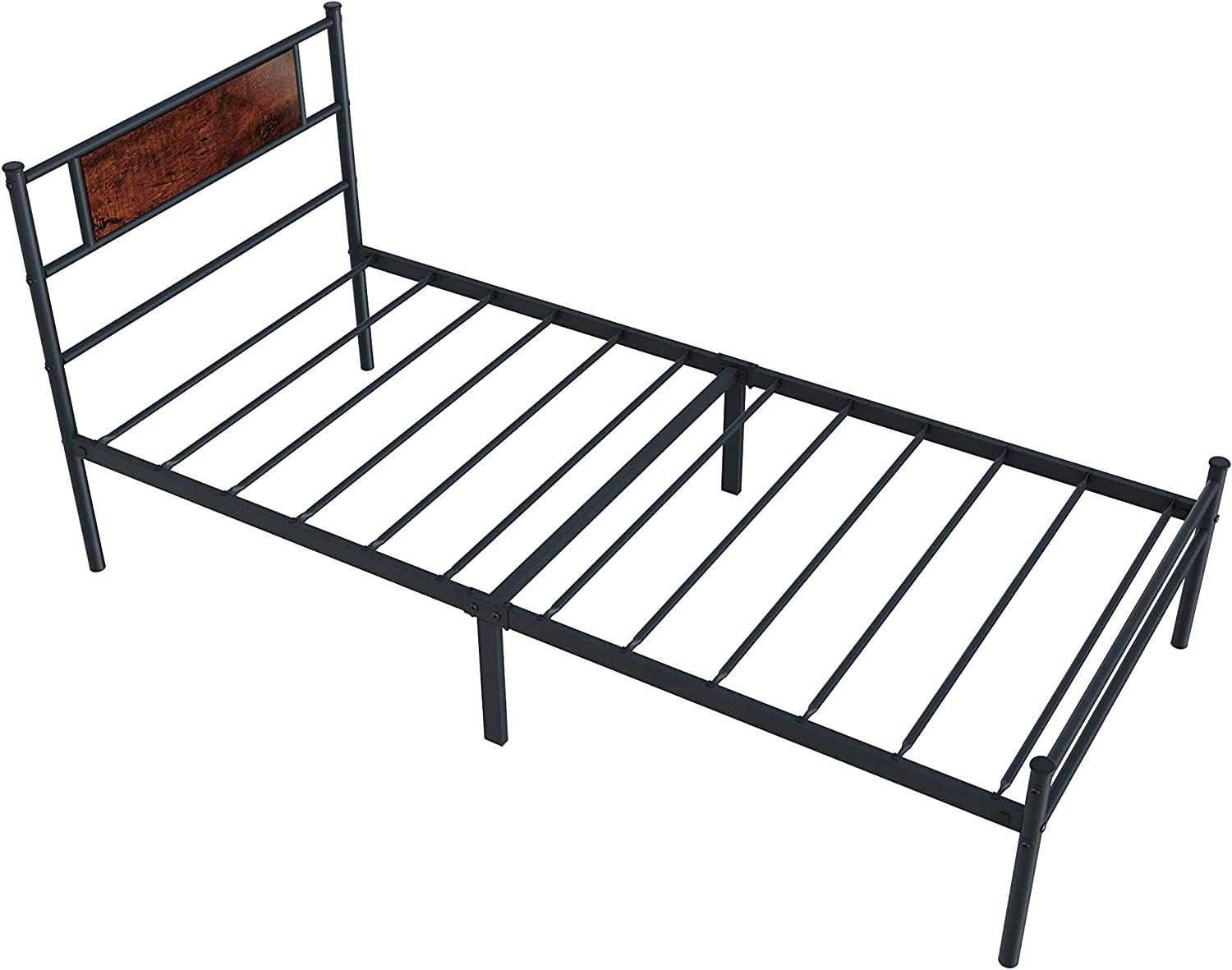 Nile Full Size Bed Frame with 13 Max 90% OFF inch Rustic Heavy Du Max 71% OFF Headboard