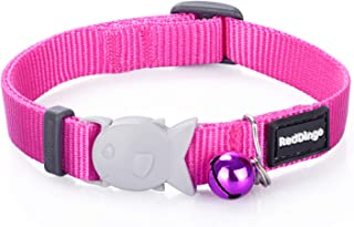 Red Dingo Classic Cat Collar, One Size Fits All, Hotpink